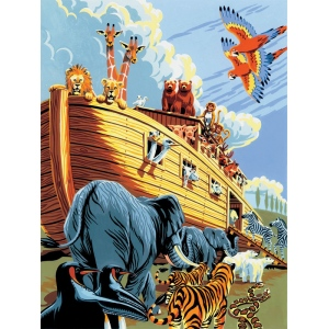 "Royal & Langnickel® Painting by Numbers™ 8 3/4 x 11 3/8 Junior Small Set Noah's Ark; Board Size: 8 3/4"" x 11 3/8""; (model PJS23), price per set"