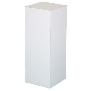 "Xylem White Laminate Pedestal: 18"" x 18"" Base, 36"" Height"