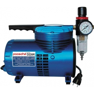 Paasche Model D220R 1/6 HP Compressor with Regulator and Moisture Trap