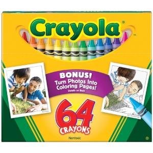 Crayola® Original Crayons 64-Color; Color: Multi; (model 52-0064), price per pack