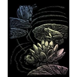 """Royal & Langnickel® Engraving Art Set Frog Pond: 8"""" x 10"""", Metallic, (model HOLO23), price per set"""