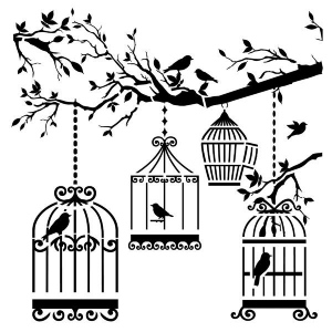 "The Crafter's Workshop 6"" x 6"" Design Template Birds of a Feather: 6"" x 6"", Patterned Stencil, (model TCW207S), price per each"