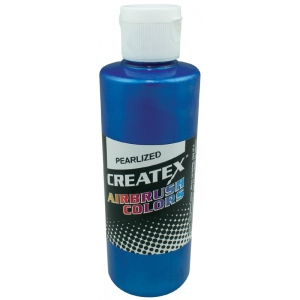 Createx™ Airbrush Paint 4oz Pearlescent Blue: Blue, Bottle, 4 oz, Airbrush, (model 5304-04), price per each