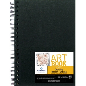"Canson® ArtBook™ 7"" x 10"" Wirebound Drawing Book; Binding: Wire Bound; Color: White/Ivory; Format: Book; Ink Color: Black/Gray; Quantity: 60 Sheets; Size: 7"" x 10""; Type: Drawing; Weight: 90 lb; (model C100510409), price per each"