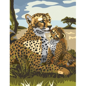 "Royal & Langnickel® Painting by Numbers™ 8 3/4 x 11 3/8 Junior Small Set Leopard; Board Size: 8 3/4"" x 11 3/8""; (model PJS43), price per set"