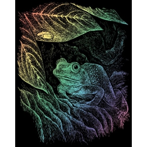 "Royal & Langnickel® Engraving Art Set Rainbow Foil Frog; Board Size: 8"" x 10""; Color: Multi; (model RAIN15), price per set"