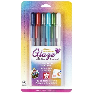 Glaze™ 3D Glossy Pen 6-Pack; Color: Multi; Ink Type: Gel; Type: Paint Pen; (model 38371), price per pack