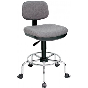 """Alvin® American-Style Draftsman's Chair: No, Black/Gray, Foot Ring Included, 24"""" - 29"""", 30"""" & Up, Under 24"""", Fabric, (model DC778-34), price per each"""
