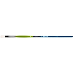 Princeton Snap! White Taklon Long Handle Watercolor and Acrylic Brush: Flat 8