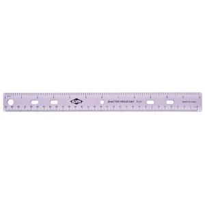 """Alvin® 12"""" Plastic 3-Ring Binder Ruler; Material: Plastic; Size: 12""""; Type: General Purpose; (model FL01), price per each"""