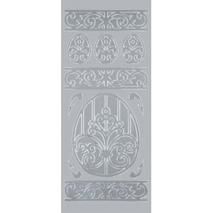 "Blue Hills Studio™ DesignLines™ Outline Stickers Silver #16; Color: Metallic; Size: 4"" x 9""; Type: Outline; (model BHS-DL016), price per pack"