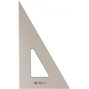 "Alvin® 6"" Smoke-Tint Triangle 30°/60°: 30/60, Black/Gray, Clear, Polystyrene, 6"", Triangle, (model SK360-6), price per each"