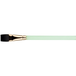 Princeton™ Best Neptune™ Synthetic Squirrel Watercolor Brush Aqua 1/2: Best, Short Handle, Synthetic, Aquarelle, Watercolor, (model 4750AQ-050), price per each
