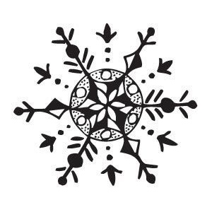 Sarasota Stamps Mounted Rubber Stamp Snowflake 1 ; Material: Rubber; Mounted: Yes; (model SSB-3358), price per each