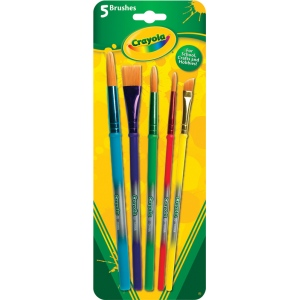Crayola® Art and Craft 5-Piece Brush Set; Type: Multimedia; (model 05-3506), price per set
