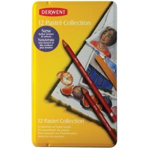 Derwent Pastel Pencil 12-Color Collection Tin Set; Color: Multi; (model 0700300), price per set