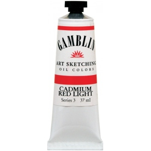 Gamblin 1980 Oil Color Paint Cadmium Red Light 37ml; Color: Red/Pink; Format: Tube; Size: 37 ml; Type: Oil; (model G7140), price per tube