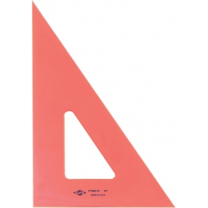 "Alvin® 12"" Fluorescent Triangle 30°/60°: 30/60, Orange, Polystyrene, 12"", Triangle, (model FT390-12), price per each"