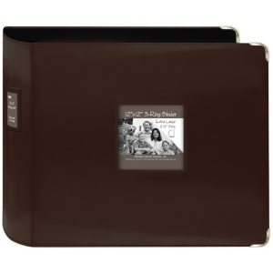 "Pioneer® 12 x 12 xL D-Ring Leatherette Scrapbook Binder Brown: Brown, Leatherette, 12"" x 12"", (model T12JF/BN), price per each"