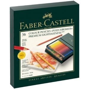 Faber Castell Polychromos Artists Colour Pencil: Studio Box of 36
