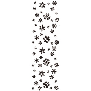 Sarasota Stamps Mounted Rubber Stamp Snowflake Border; Material: Rubber; Mounted: Yes; (model SSH-3417), price per each