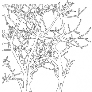 "The Crafter's Workshop 12"" x 12"" Design Template Branches; Size: 12"" x 12""; Type: Patterned Stencil; (model TCW208), price per each"