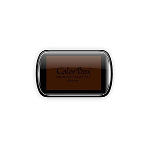 ColorBox® Full Size Ink Pad Brown; Color: Brown; Format: Pad; Ink Type: Pigment; Shape: Full Size Rectangle; (model CS15054), price per each