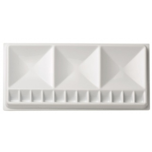 "Heritage Arts™ Rectangular Plastic Palette Tray 5 1/2 x 12: Plastic, 15 Wells, Rectangle, 5 1/2"" x 12"", (model CW07541), price per each"