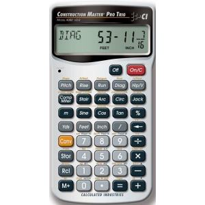 Calculated Industries® Construction Master® Pro Trig Calculator; Type: Calculator; (model CA225), price per each