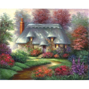 "Royal & Langnickel® Paint Your Own Masterpiece™ 11 x 14 Romantic Cottage; Board Size: 11"" x 14""; (model POM-SET3), price per set"