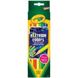 Crayola® Extreme Colors Colored Pencil 8-Color Set; Color: Multi; Format: Pencil; (model 68-1120), price per set