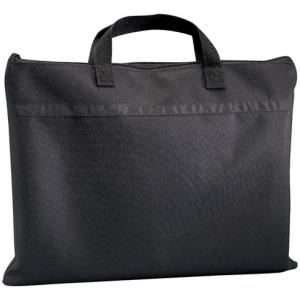 "Prestige™ Student™ Series Black Soft-Sided Portfolio 15"" x 18"": Black/Gray, 1/2"", Nylon, 15"" x 18"", (model N1518), price per each"