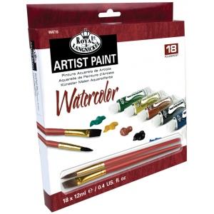Royal & Langnickel® 18-Color Watercolor Paint Set; Color: Multi; Format: Tube; Size: 12 ml; Type: Watercolor; (model RWAT18), price per set