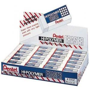 Pentel® Hi-Polymer® Lead Eraser Display: Manual, (model ZEH05D), price per box