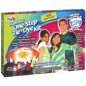 Tulip® One-Step Dye™ Super Big Tie-Dye Kit for 24 Shirts; Capacity: 24 Shirts; Color: Multi; Format: Bottle; Ink Type: Tie Dye; (model D26507), price per kit