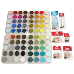 PanPastel® Ultra Soft Painting Pastels 80-Color Set; Color: Multi; Format: Pan; Type: Ultra Soft; (model PP30800), price per set