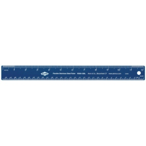 "Alvin® 12"" Flexible Stainless Steel Ruler Blue; Color: Blue; Material: Steel; Size: 12""; Type: General Purpose; (model R590-12BL), price per each"