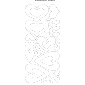 "Dazzles™ Double Stick Hearts; Color: Black/Gray; Quantity: 1 Sheet; Shape: Patterned; Size: 4"" x 9""; Type: Double-Stick; (model HOTP2039), price per each"