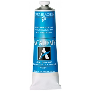 Grumbacher® Academy® Oil Paint 37ml Cerulean Blue Hue; Color: Blue; Format: Tube; Size: 37 ml; Type: Oil; (model GBT039B), price per tube