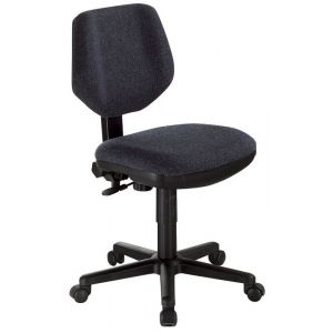 "Alvin® Black Comfort Classic Deluxe Office Height Task Chair; Arm Rest Included: No; Color: Black/Gray; Foot Ring Included: No; Height Range: Under 24""; Seat Material: Fabric; (model CH290-40), price per each"