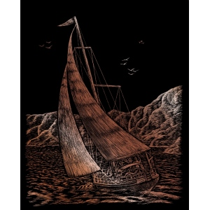 "Royal & Langnickel® Engraving Art Set Copper Sailing; Board Size: 8"" x 10""; Color: Metallic; (model COPF30), price per set"