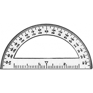 "Westcott® C-Thru® 3 1/2"" Mini Protractor; Color: Clear; Material: Vinyl; Size: 3 1/2""; Type: Protractor; (model 3751), price per dozen (12-pack)"
