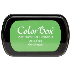 ColorBox® Full Size Ink Pad Grasshopper: Green, Pad, Dye-Based, Full Size Rectangle, (model CS27018), price per each