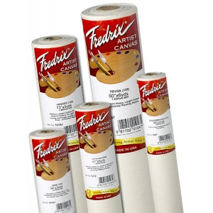 """Fredrix® Artist Series 73 x 3yd Acrylic Primed Cotton Canvas Roll: White/Ivory, Roll, Cotton, 73"""" x 3 yd, Acrylic, Primed, (model T10151), price per roll"""