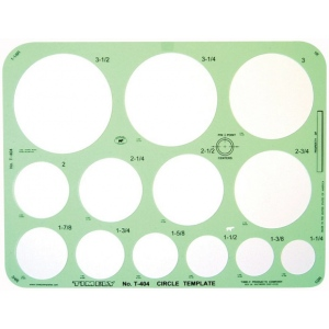 "Timely® Circle Template; Scale: 1 1/4"" - 3 1/2""; (model 404T), price per each"