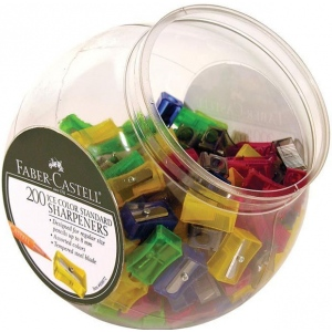 Faber-Castell® Ice Color Standard Sharpener; Color: Assorted; Holes: One; Type: Manual; (model FC800072D), price per each