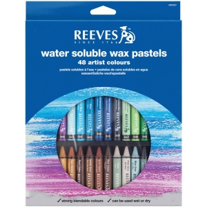 Reeves™ Water Soluble Wax Pastel 48-Color Set: Multi, Stick, Wax, (model 4890587), price per set