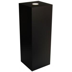 "Xylem Black Laminate Spot Lighted Pedestal: 15"" x 15"" Size, 36"" Height"