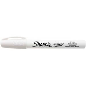 Sharpie® Oil Paint Marker Medium White; Color: White/Ivory; Ink Type: Paint; Tip Type: Medium Nib; (model SN35558), price per each
