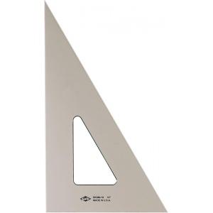 "Alvin® 10"" Smoke-Tint Triangle 30°/60°: 30/60, Black/Gray, Clear, Polystyrene, 10"", Triangle, (model SK360-10), price per each"